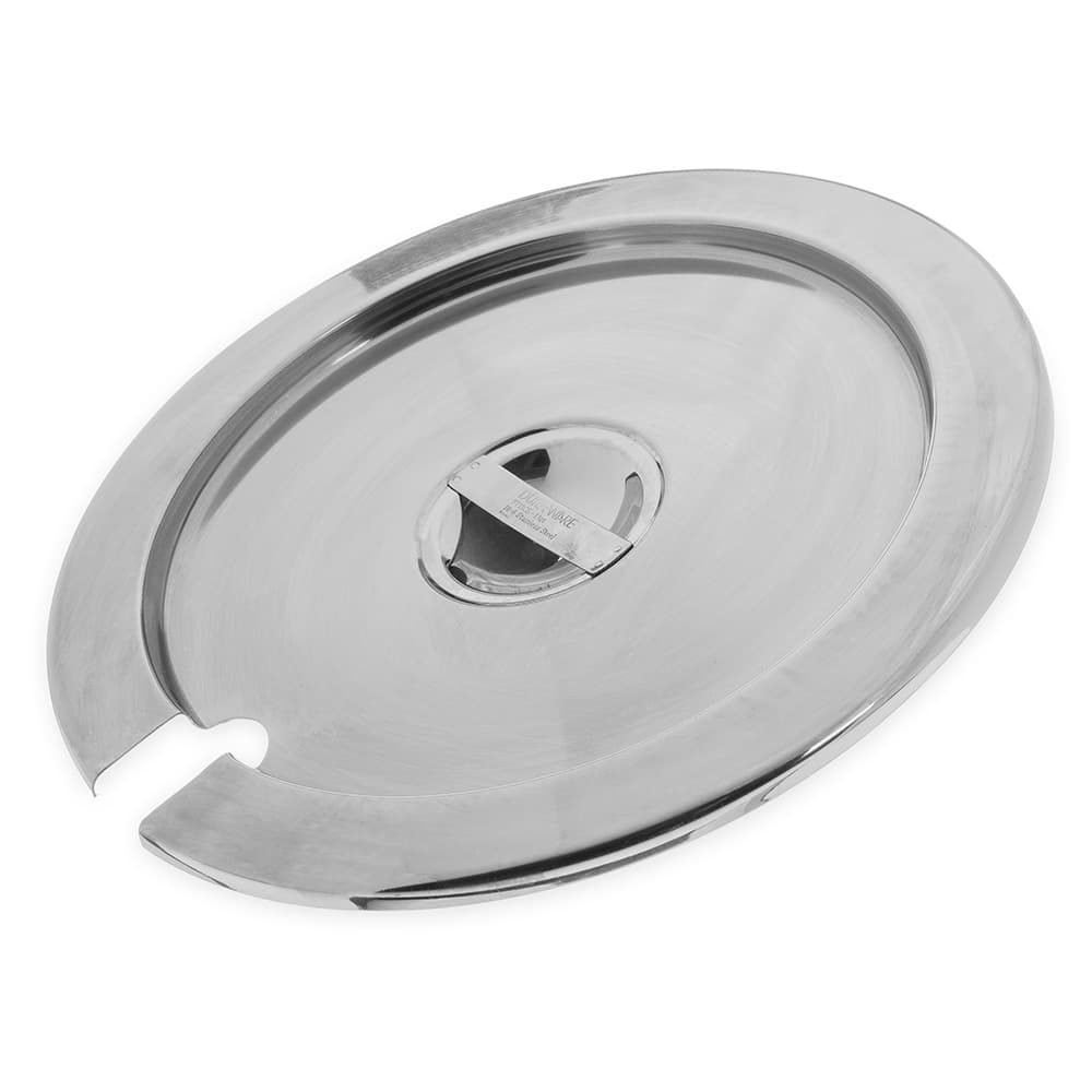 Carlisle 607711CS 11-qt Inset Cover - Notched Handle, Stainless
