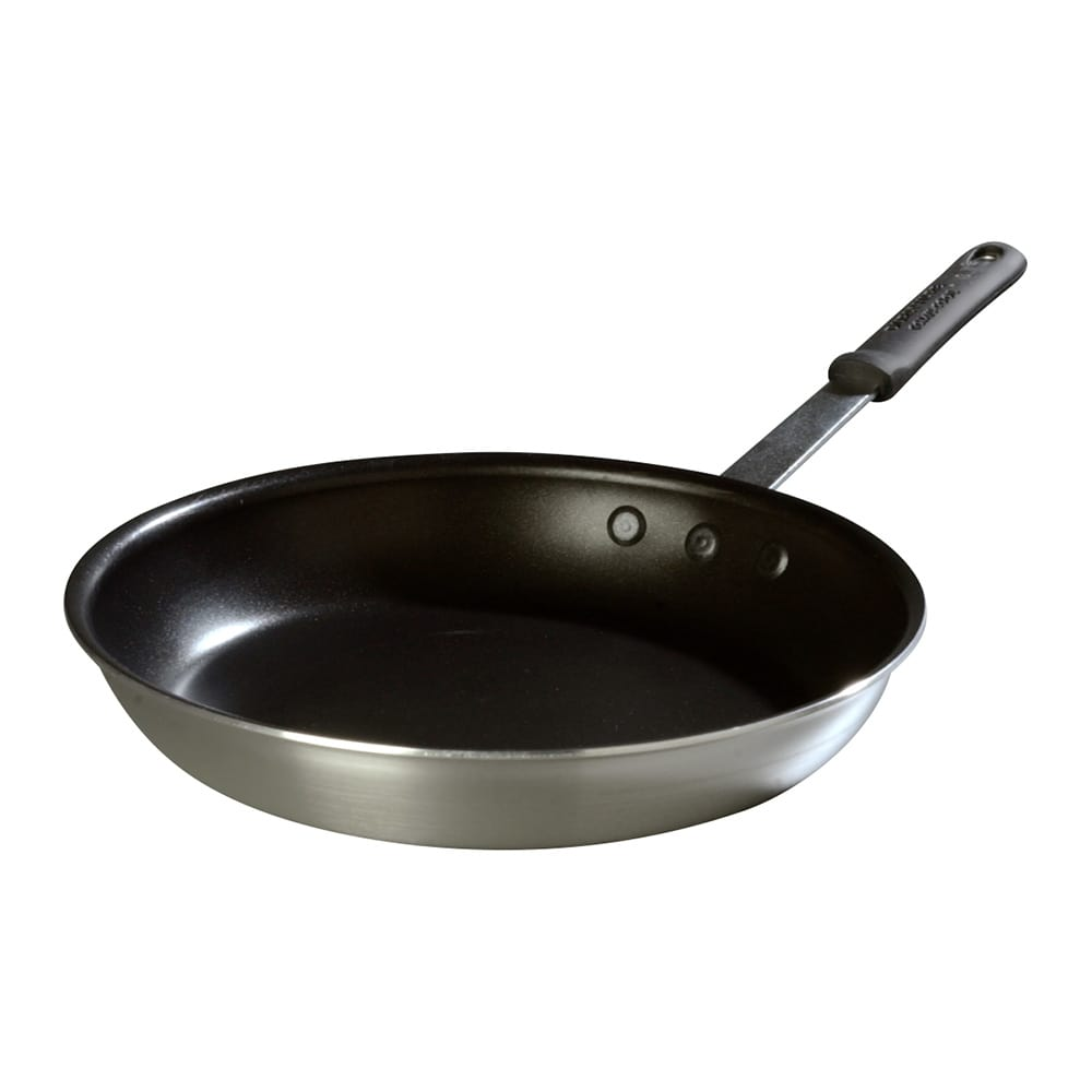 """Carlisle 60912SERS 12"""" Non-Stick Aluminum Frying Pan w/ Solid Silicone Handle"""