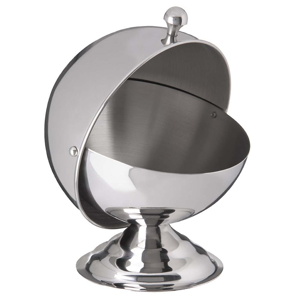 Carlisle 609131 10-oz Serving Bowl w/ Roll Top Cover, Stainless