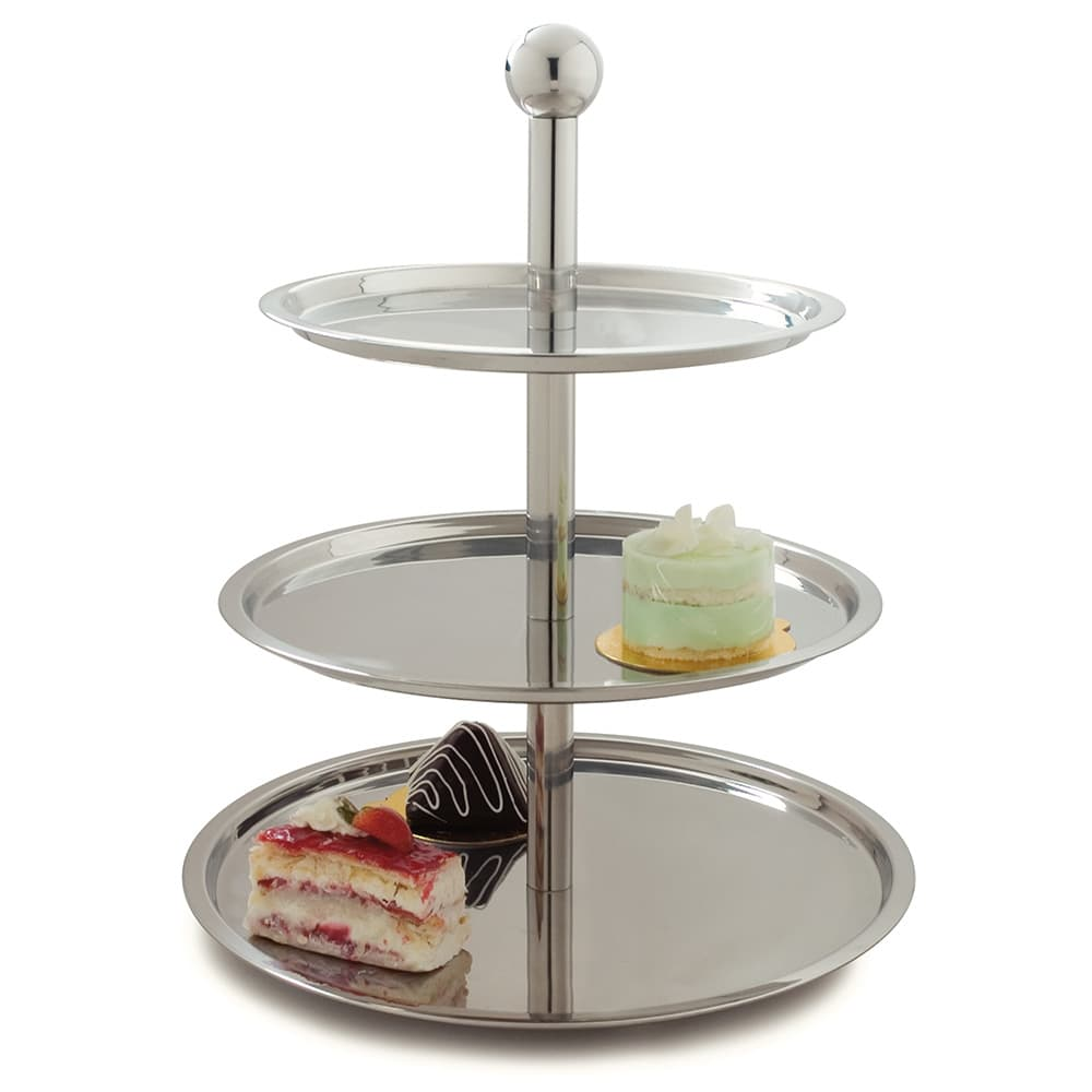 "Carlisle 609170 20""H Display Stand w/ (3) Tiers, Stainless"