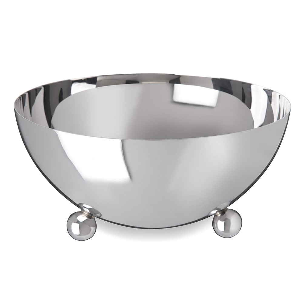 "Carlisle 609196 9.5"" Round Serving Bowl w/ 96-oz Capacity, Stainless"