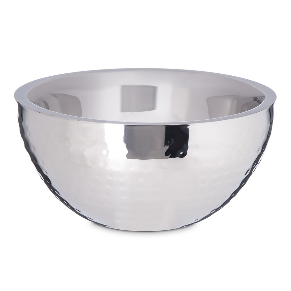 """Carlisle 609201 8"""" Round Dual Angle Bowl w/ 1.7 qt Capacity, Stainless"""