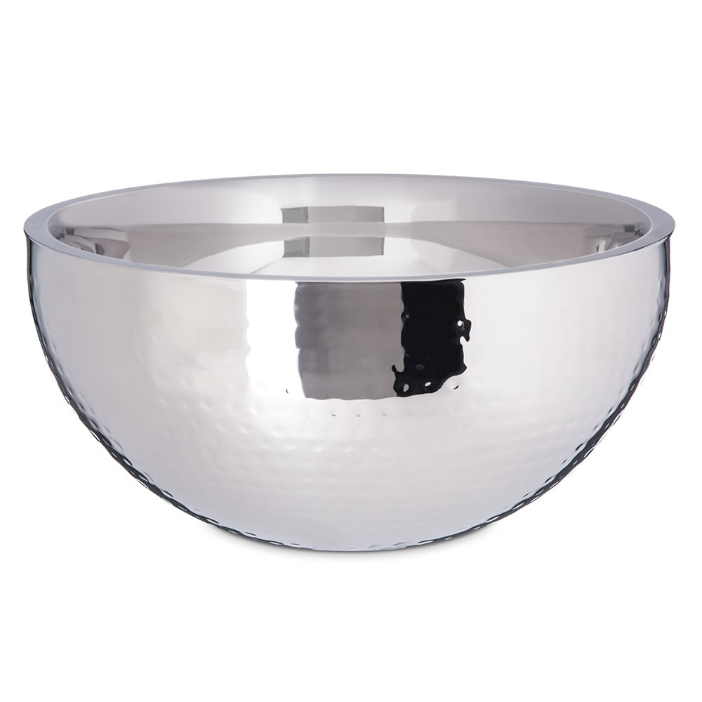 """Carlisle 609203 12"""" Round Dual Angle Bowl w/ 5.75 qt Capacity, Stainless"""