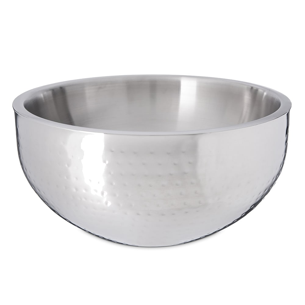 "Carlisle 609204 14"" Round Dual Angle Bowl w/ 9.5-qt Capacity, Stainless"