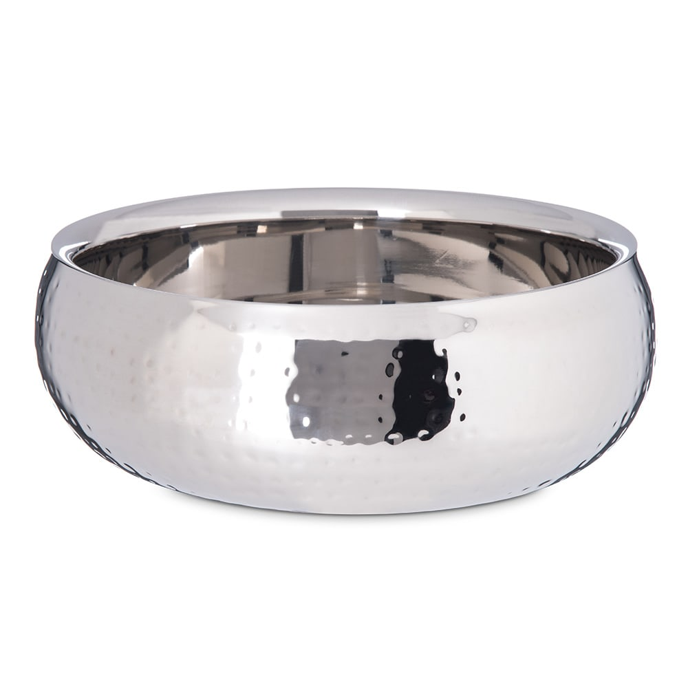 """Carlisle 609208 9.25"""" Round Dual Angle Bowl w/ 2.5 qt Capacity, Stainless"""