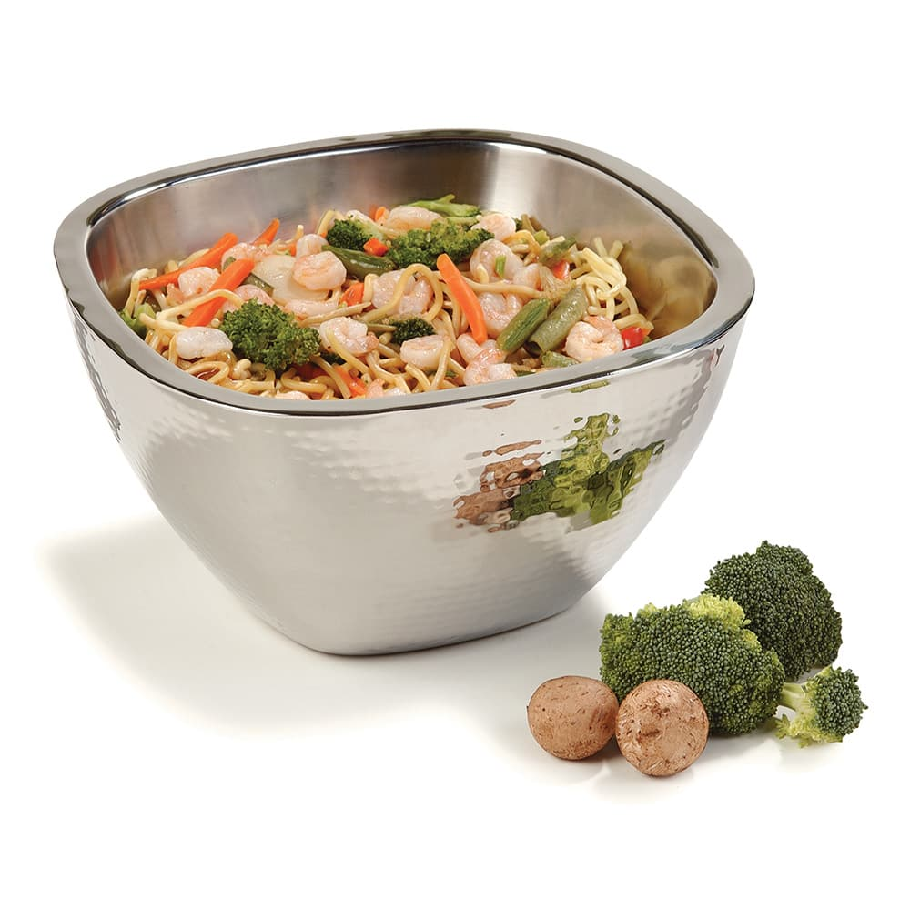 "Carlisle 609211 10"" Square Serving Bowl w/ 3.5 qt Capacity, Stainless"