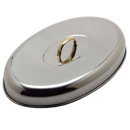 Carlisle 609510C 6-qt Oval Chafing Dome Cover - Stainless Steel