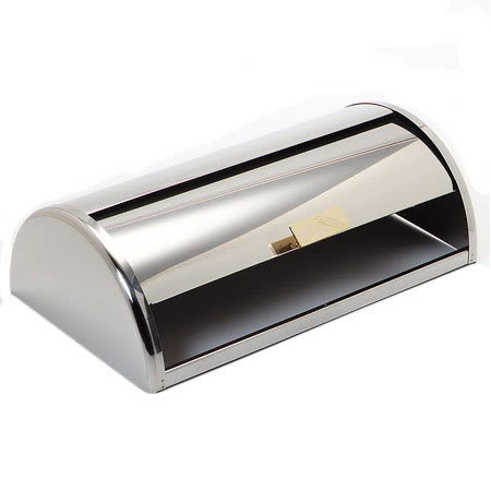 """Carlisle 609600C 6.5"""" Rectangular Roll-Top Cover - Stainless"""