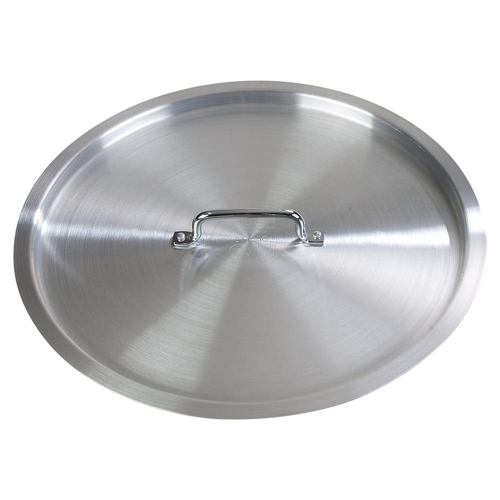 """Carlisle 61200C 21"""" Flat Stock Pot Cover - Aluminum"""