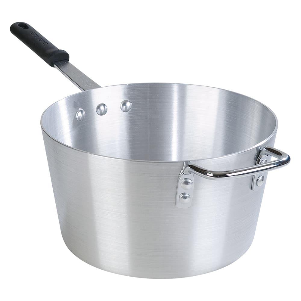 Carlisle 61710 10-qt Aluminum Saucepan w/ Solid Silicone Handle