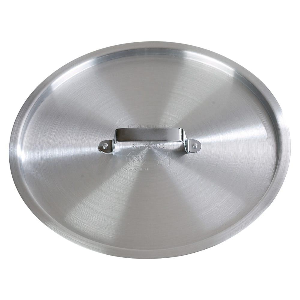 """Carlisle 61710C 11.75"""" Flat Saucepan Cover - Aluminum"""