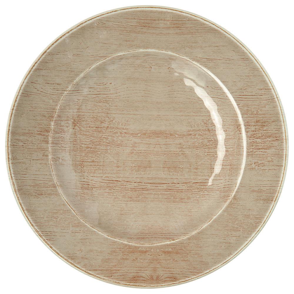 "Carlisle 6400270 9"" Round Salad Plate - Melamine, Adobe"
