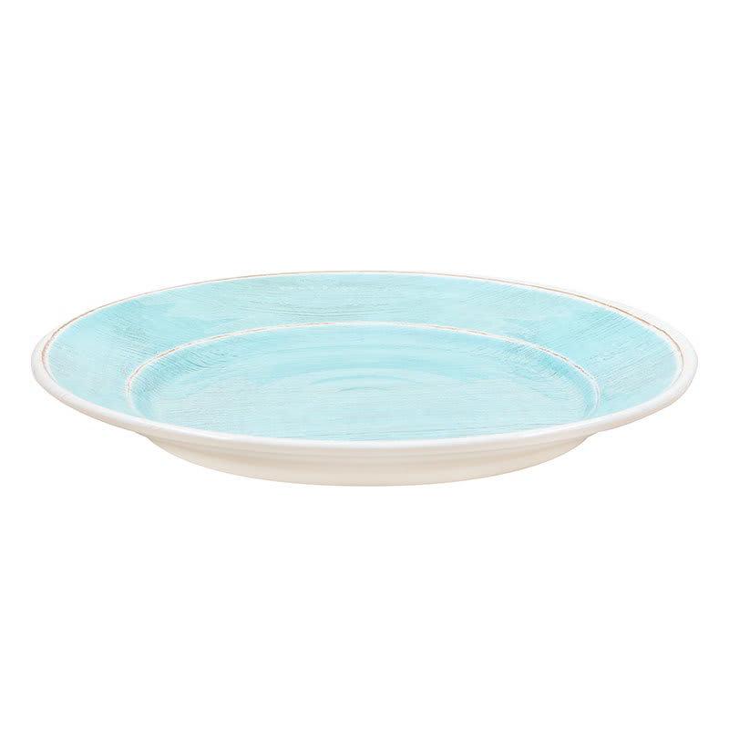 "Carlisle 6400415 12.5"" Grove Charger Plate - Melamine, Aqua"