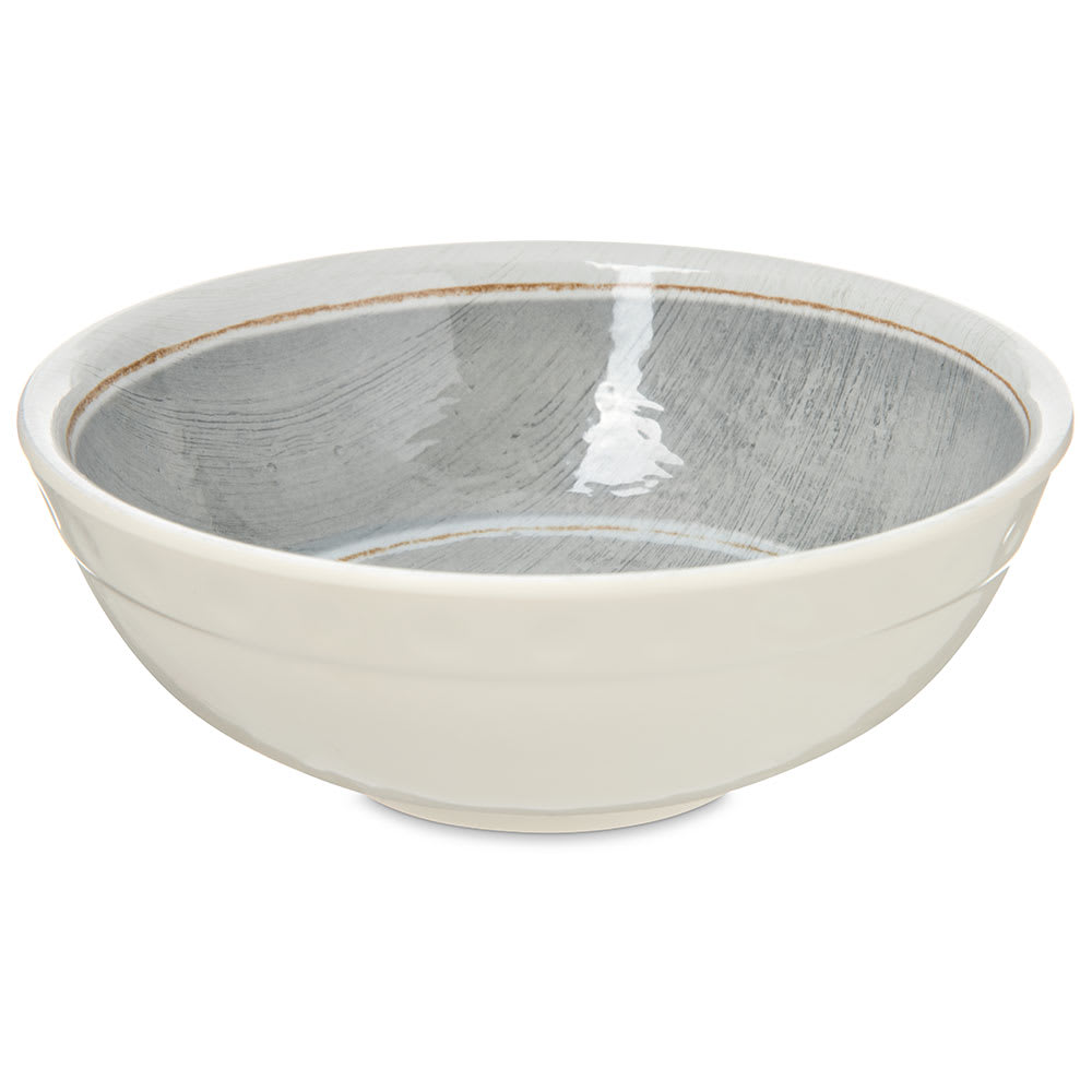 Carlisle 6400518 20-oz Grove Soup Bowl - Melamine, Smoke Gray