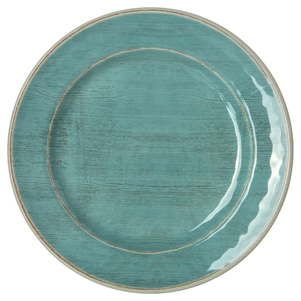 "Carlisle 6400715 7"" Round Grove Bread & Butter Plate - Melamine, Aqua"