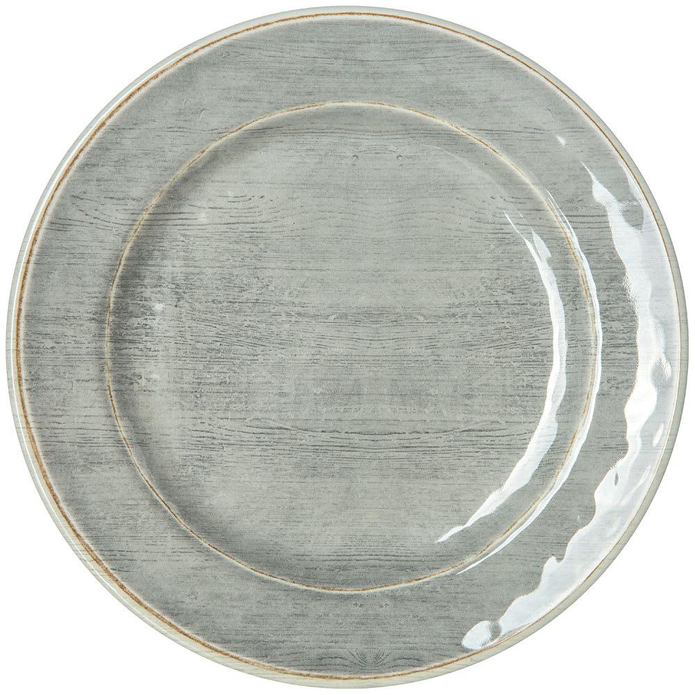 "Carlisle 6400718 7"" Round Grove Bread & Butter Plate - Melamine, Smoke Gray"