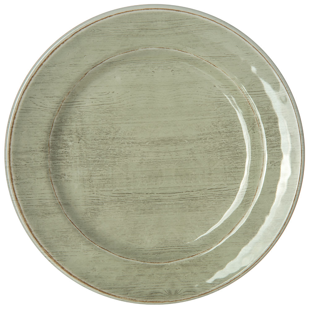 "Carlisle 6400746 7"" Round Grove Bread & Butter Plate - Melamine, Jade"