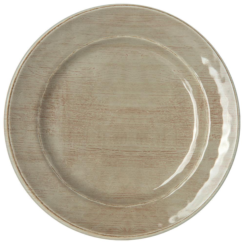 "Carlisle 6400770 7"" Round Grove Bread & Butter Plate - Melamine, Adobe"