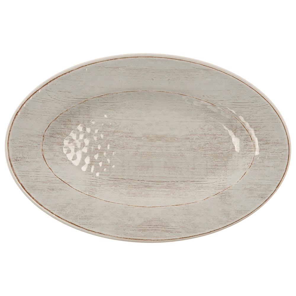 "Carlisle 6402006 Oval Plate - 12"" x 8"", Melamine, Buff"
