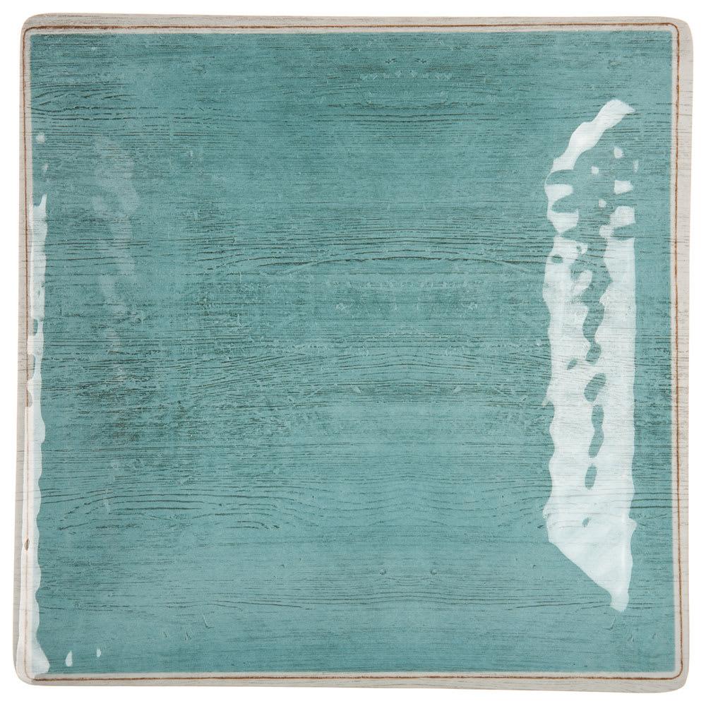 "Carlisle 6402315 8.5"" Square Dinner Plate - Melamine, Aqua"