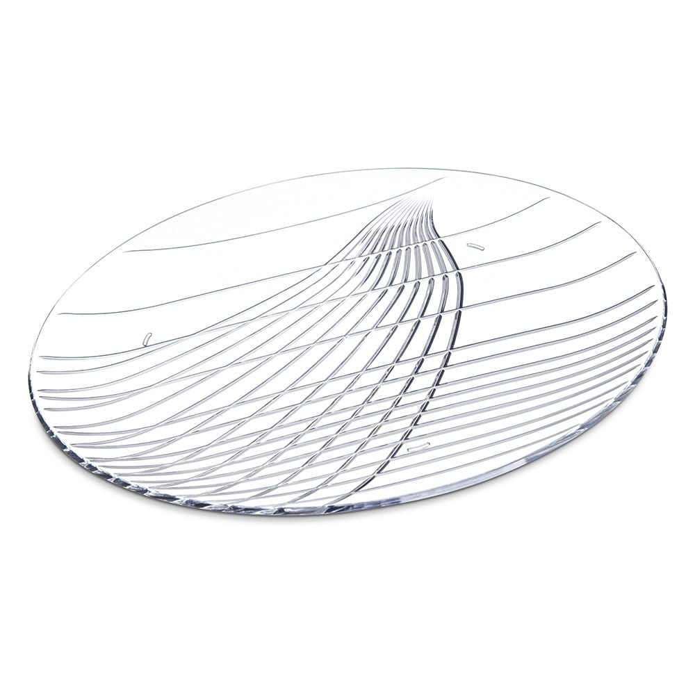 "Carlisle 641307 13"" Round Serving Tray - Plastic, Clear"