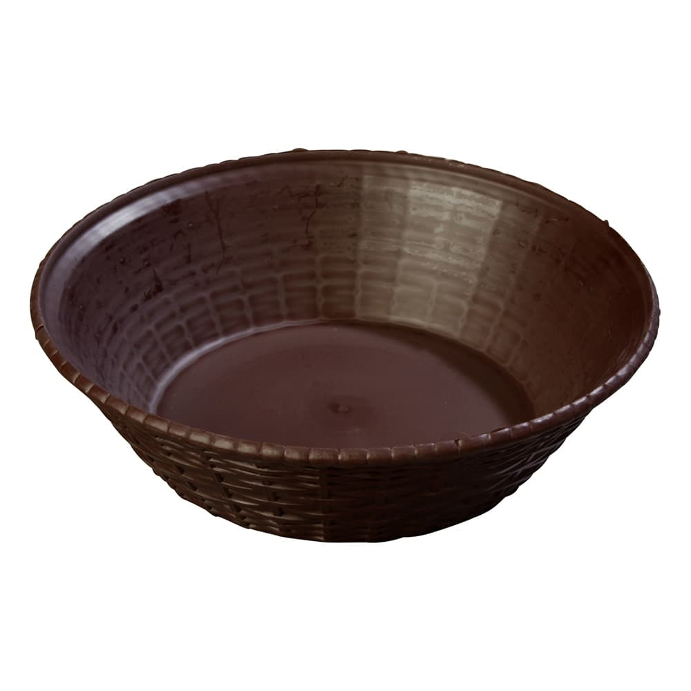 "Carlisle 652401 9"" Round Bread Basket - Polypropylene, Brown"