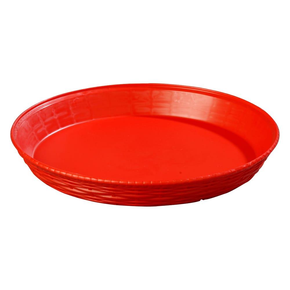 """Carlisle 652605 12"""" Round Bread Basket - Polypropylene, Red"""
