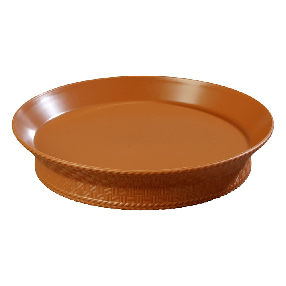 "Carlisle 652731 10.375"" Round Platter - Polypropylene, Light Brown"