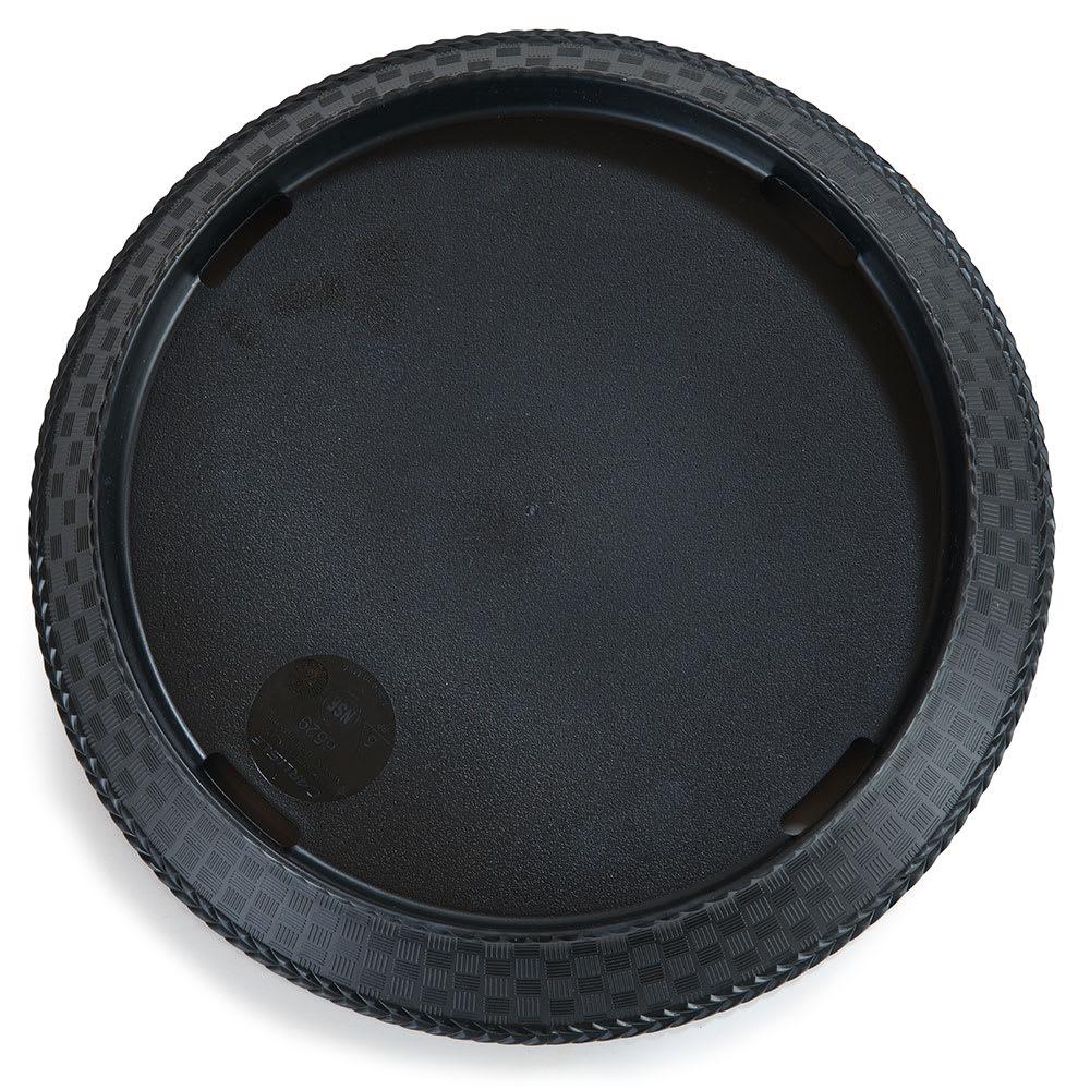 """Carlisle 652903 10.5"""" Round Platter, Polypropylene, Black"""