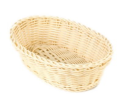 Carlisle 6551-06 Medium Oval Woven Basket, Oatmeal