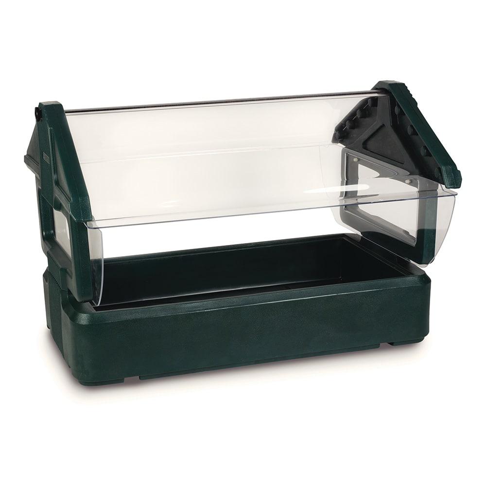 Carlisle 660008 Table Top Food Bar - (3)Full-Size Pan Capacity, Polyethylene, Forest Green