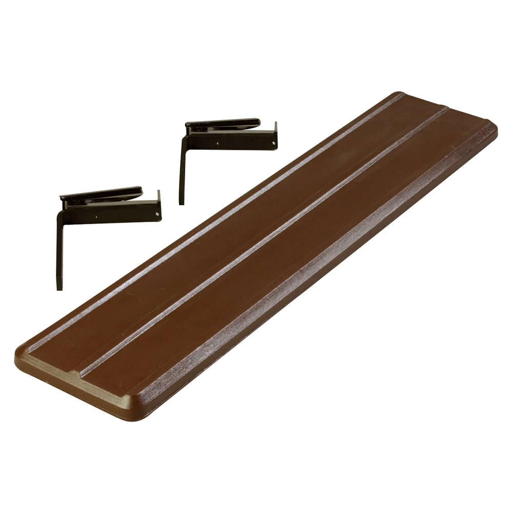 "Carlisle 662001 Food Bar Tray Slide - 44"" x 9"" x 2"", Polyethylene, Brown"
