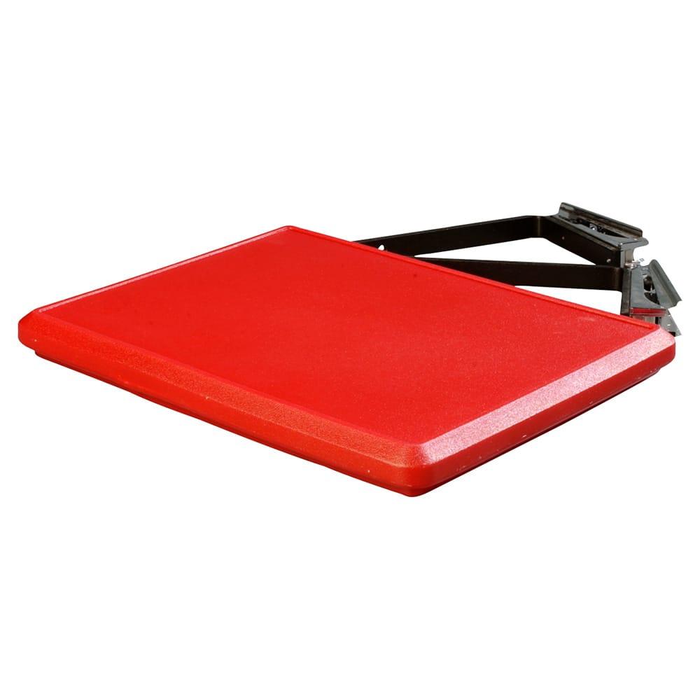 Carlisle 662505 Food Bar End Shelf - Drop Down Style, Polyethylene, Red