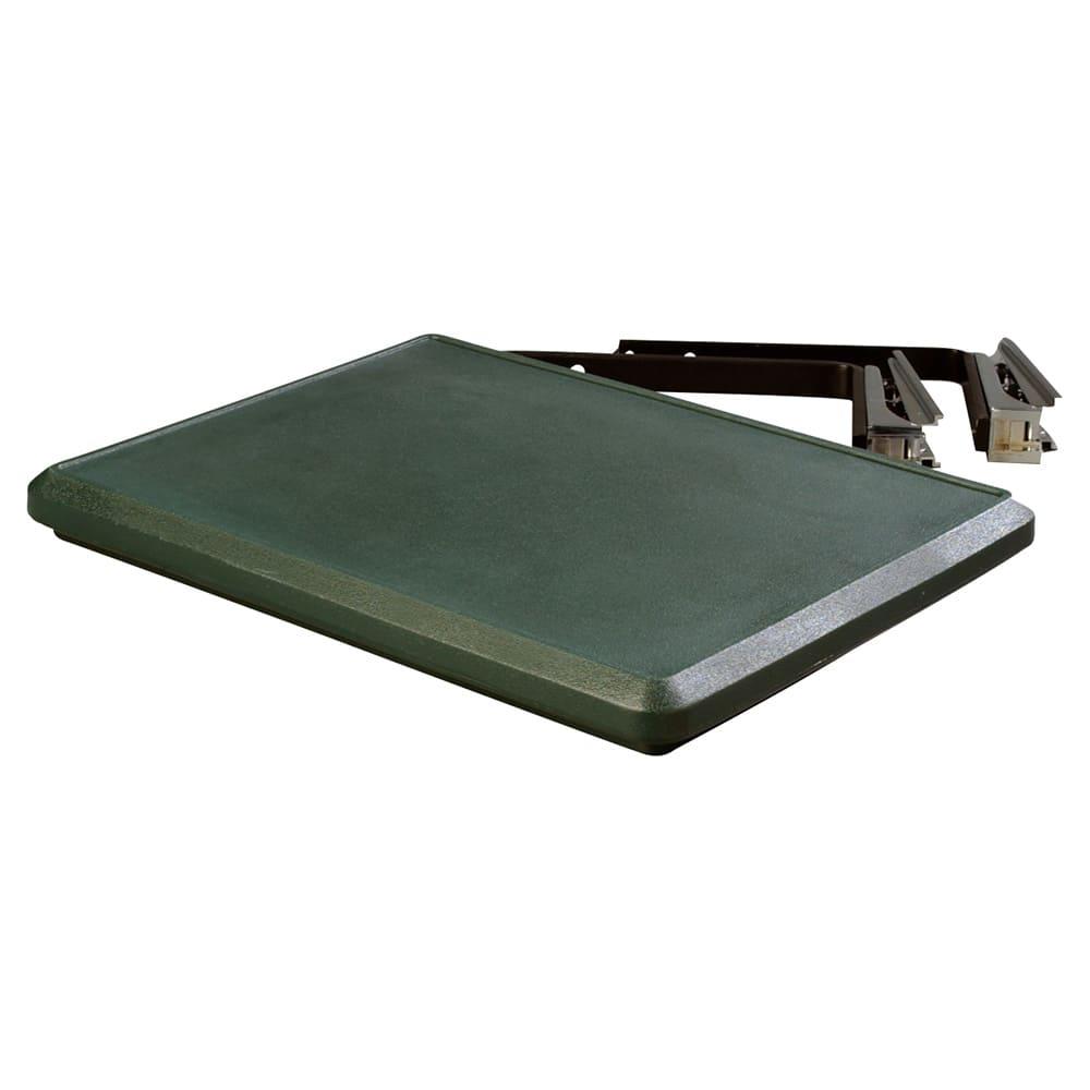 Carlisle 662508 Food Bar End Shelf - Drop Down Style, Polyethylene, Forest Green
