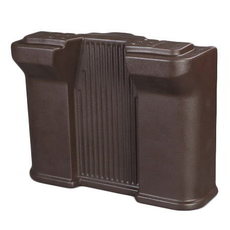 Carlisle 668701 Standard Food Bar Leg - Maximizer Food Bar, Brown