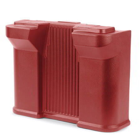 Carlisle 668705 Standard Food Bar Leg - Maximizer Food Bar, Red