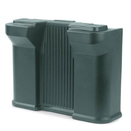 Carlisle 668708 Standard Food Bar Leg - Maximizer Food Bar, Forest Green