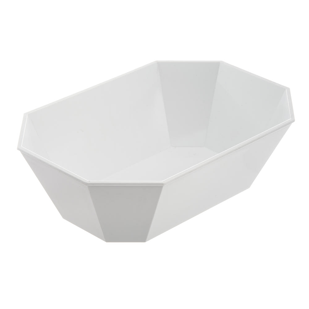 Carlisle 671302 Octagonal Deli Crock w/ 5 lb Capacity, Plastic, White
