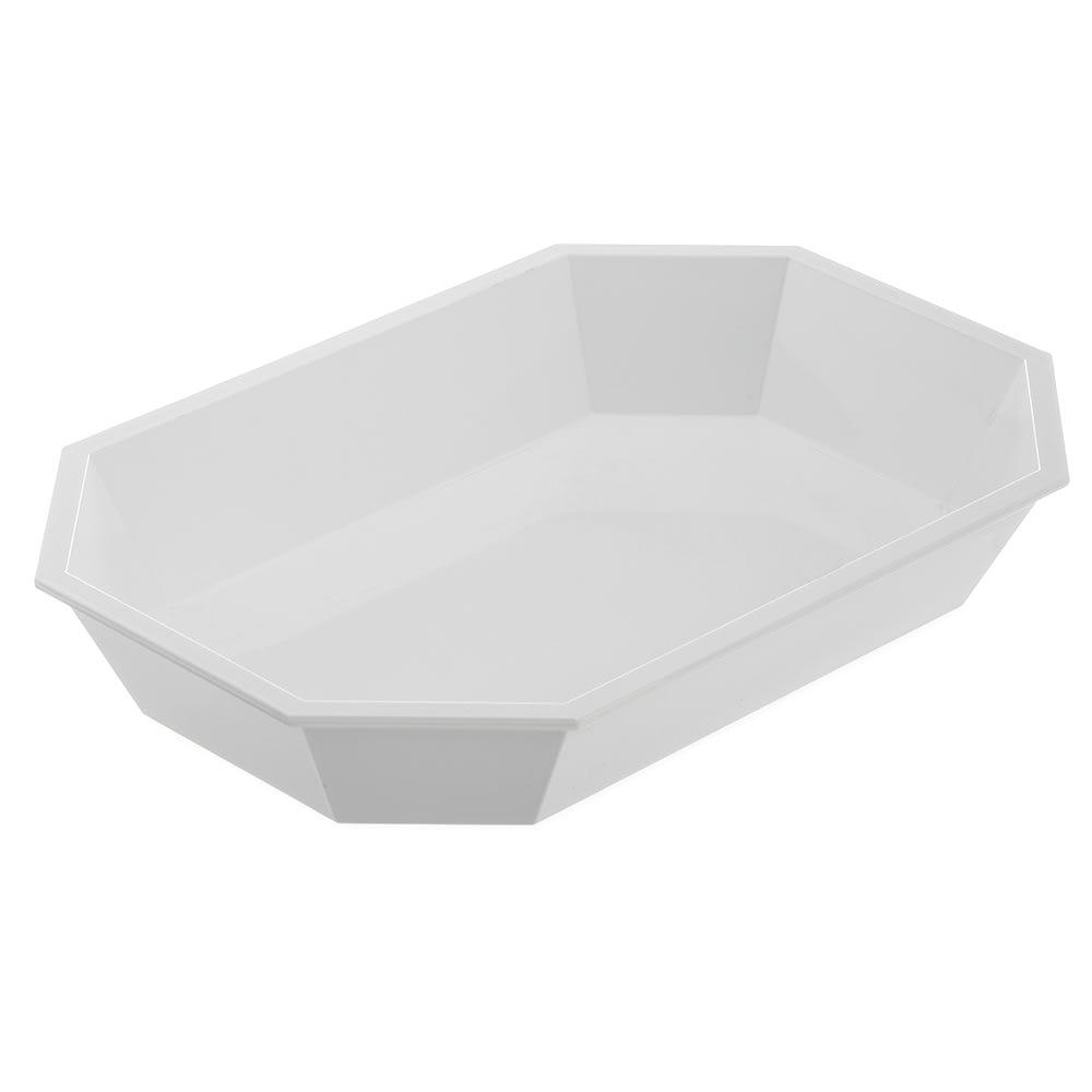 Carlisle 672302 Octagonal Deli Crock w/ 2.5 lb Capacity, Plastic, White