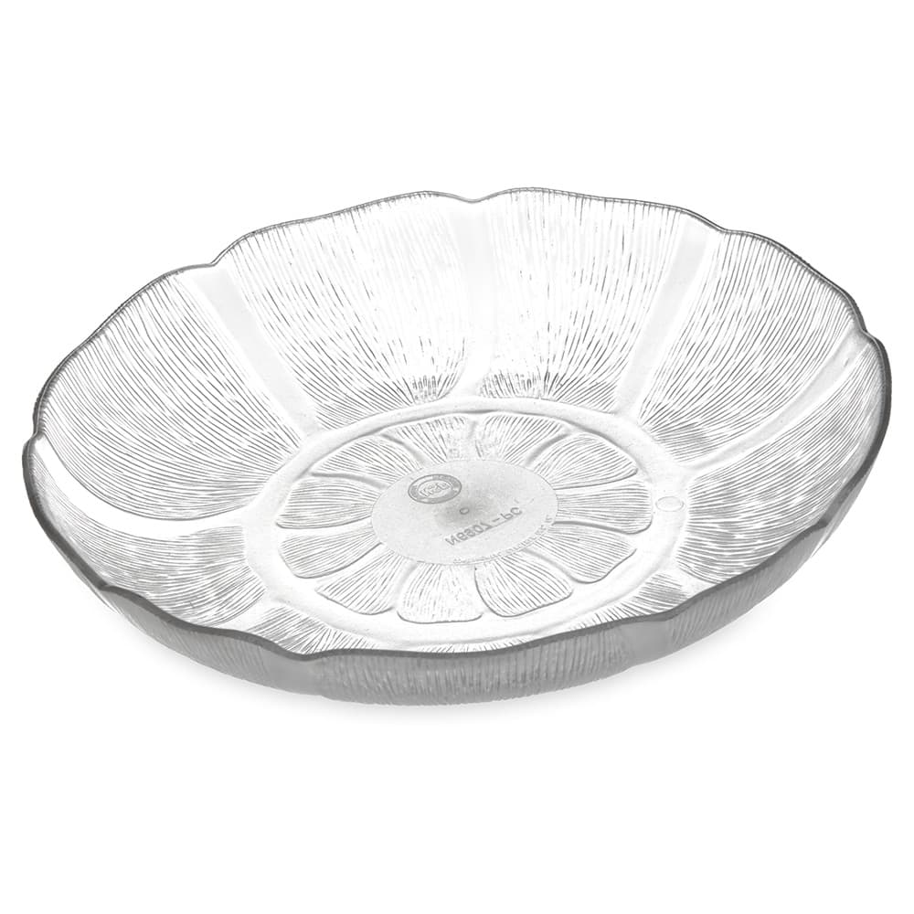 "Carlisle 690707 8"" Round Salad Plate w/ 23.9 oz Capacity, Polycarbonate, Clear"