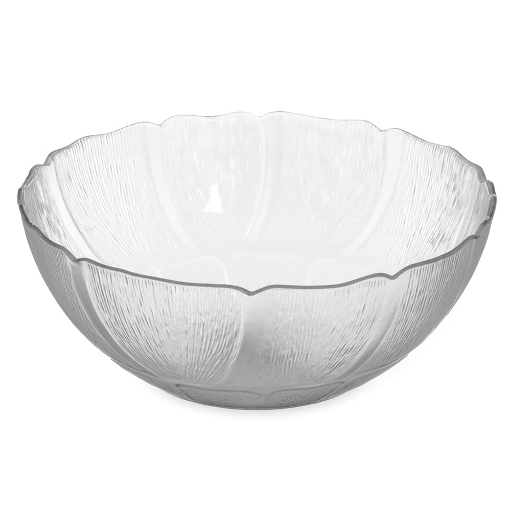"Carlisle 690907 9"" Round Serving Bowl w/ 2.4 qt Capacity, Polycarbonate, Clear"