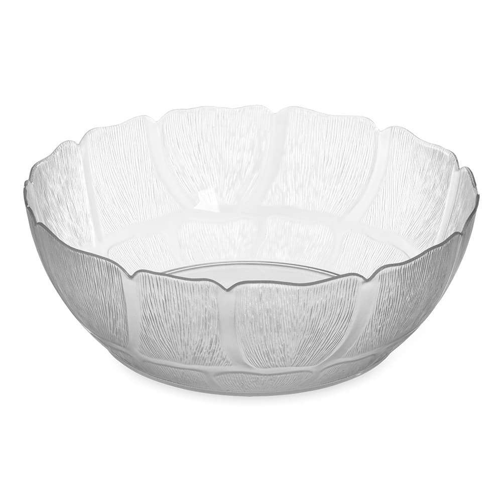 "Carlisle 691407 12"" Round Serving Bowl w/ 5.7 qt Capacity, Polycarbonate, Clear"