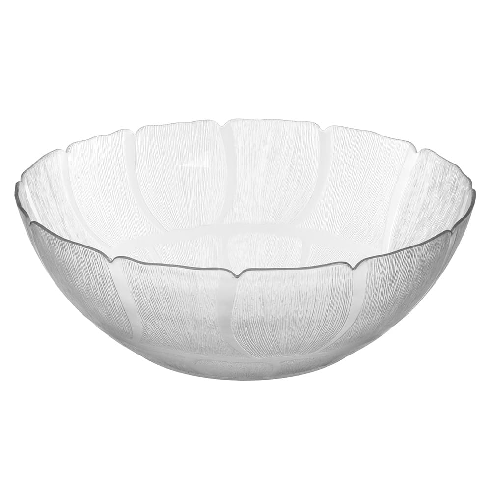 "Carlisle 691907 18"" Round Serving Bowl w/ 17.2-qt Capacity, Polycarbonate, Clear"