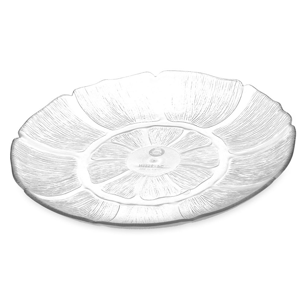 "Carlisle 6956-807 9"" Round Plate - Polycarbonate, Clear"