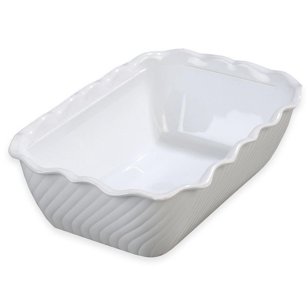 Carlisle 696302 Rectangular Salad Crock w/ 5 lb Capacity, Plastic, White