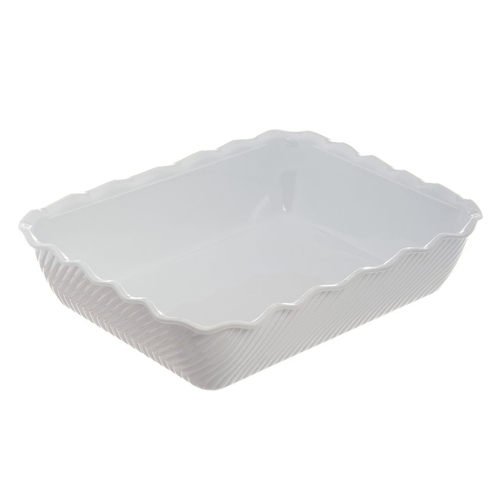 Carlisle 696602 Rectangular Salad Crock w/ 10-lb Capacity, Plastic, White