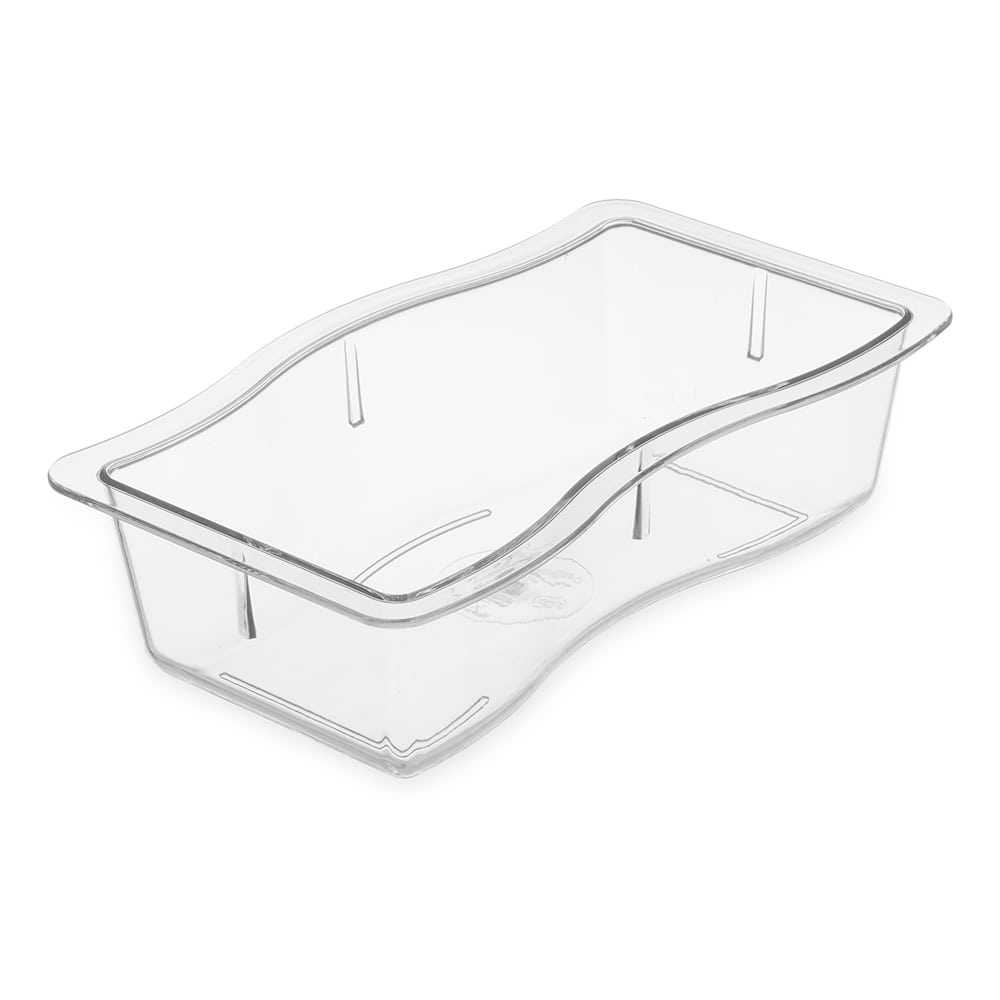 Carlisle 698407 Half Size Food Pan - Polycarbonate, Clear