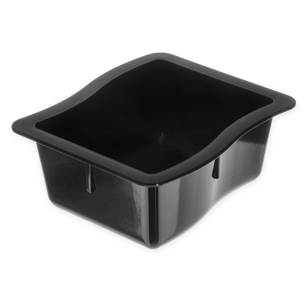 Carlisle 698603 Third Size Food Pan - Polycarbonate, Black