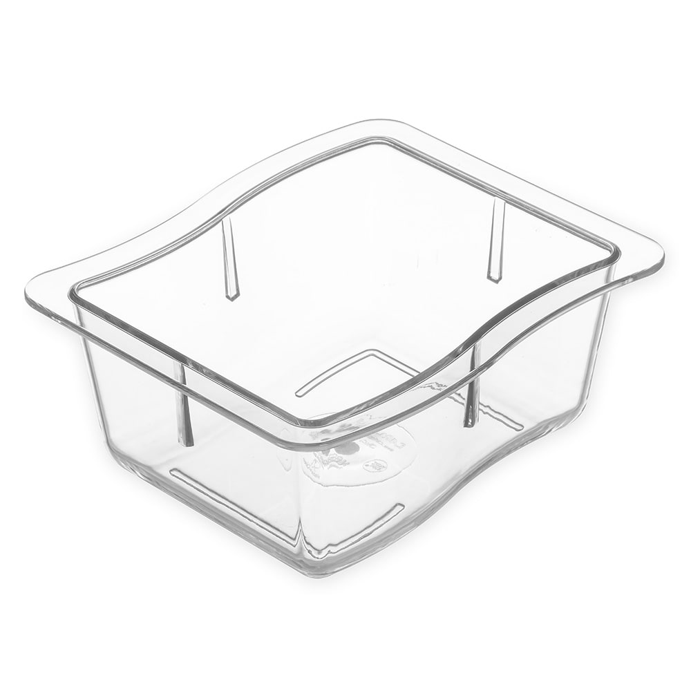 Carlisle 698607 Third Size Food Pan - Polycarbonate, Clear