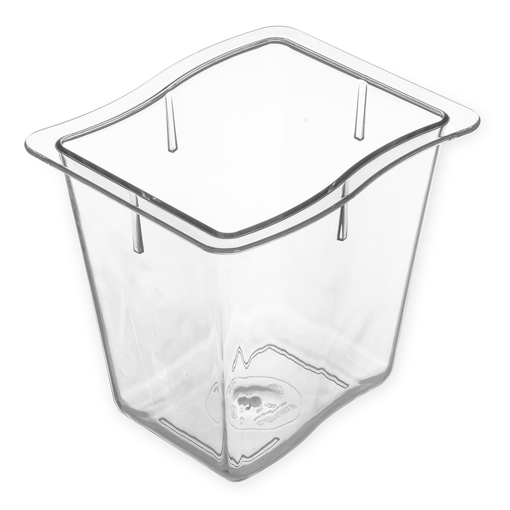 Carlisle 6986607 Third Size Food Pan - Polycarbonate, Clear